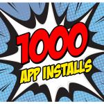 1000 App Installations!